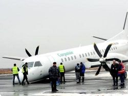 Аварийная посадка самолета Saab 2000 в Румынии