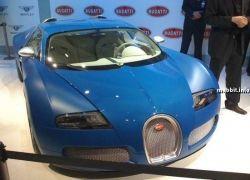 Эксклюзивный Bugatti Veyron Bleu Centenaire был представлен на автошоу