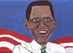 Американцы рисуют Барака Обаму