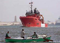 В Красном море затонуло египетское судно