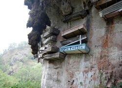 Наскальное кладбище в Сагаде на Филиппинах
