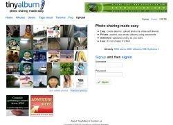 tinyalbum.com: фотохостинг с гибкими настройками