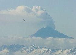 На Аляске произошло мощное извержение вулкана