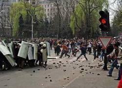 В беспорядках в Кишиневе пострадали более 30 человек
