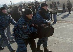 Милиция разогнала митинг автомобилистов во Владивостоке