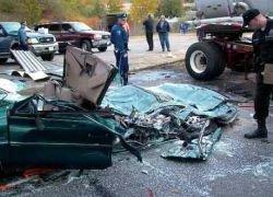 Под Самарой на автотрассе столкнулись 25 машин