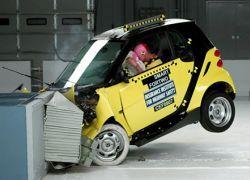 Маленькие автомобили не защищены при аварии