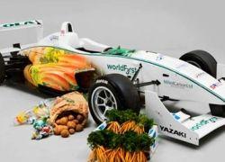 Болиды овощной Формулы-3 ездят на шоколаде