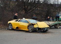 В Москве водитель Lamborghini устроил аварию