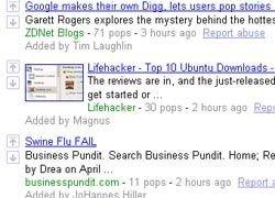 Google открыл собственный Newsland