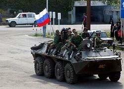 В Цхинвал вводятся дополнительные российские войска