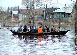 В Архангельской области паводок заблокировал город