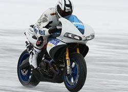 Мотоцикл установил рекорд скорости на льду