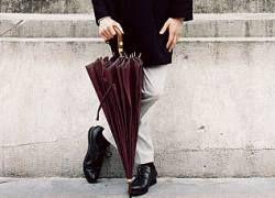 Как должен выглядеть модный мужской зонт