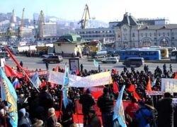 Во Владивостоке снова протестуют против пошлин