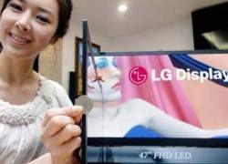LG выпустила самый тонкий ЖК-телевизор в мире