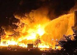 В Германии сгорело нефтехранилище