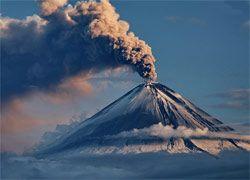 На Курилах произошло мощное извержение вулкана