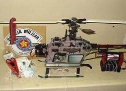 Игрушечный вертолет как средство контрабанды