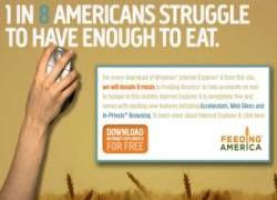 Загрузи IE8 – накормишь голодного