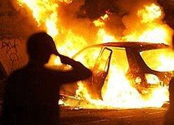 В Дагестане сгорел автомобиль с боевиками