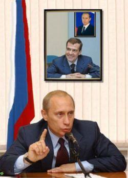 Россияне: Медведев и  Путин руководят эфективно