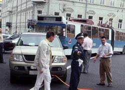 Чиновник Минфина парализовал движение в центре Москвы
