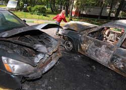 На штрафстоянке в Москве сгорели 28 машин