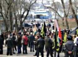 Ветераны авиаполка ВВС РФ вышли на митинг протеста