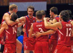 Российские волейболисты одолели эстонцев