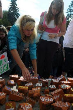 Акция студентов РГГУ на Комсомольской площади