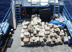 Британский корабль задержал партию кокаина в 5,5 тонн