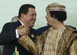 Чавес и Каддафи подписали декларацию против террора