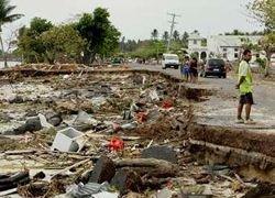 Число жертв цунами в Океании достигло 118 человек