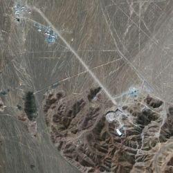 Иранский ядерный завод - вид из космоса