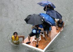 "На Филиппинах бушует новый тайфун \""Парма\"""