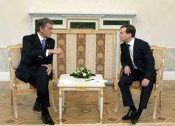 Ющенко попросил Медведева о встрече