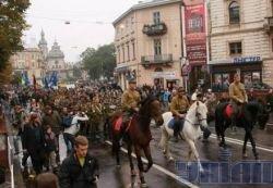Марш славы УПА прошел во Львове