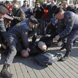 Активисты оппозиции были задержаны милицией в Москве