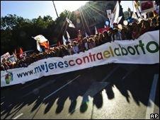 В Мадриде прошел митинг против легализации абортов