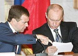 Ретинги Медведева и Путина упали