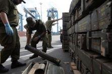 Иранское оружие разгружают уже второй день