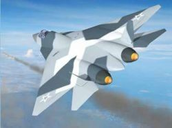 Полет российского истребителя пятого поколения