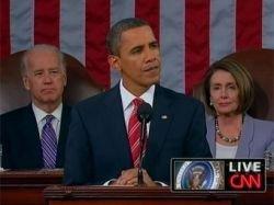 Обама выступил со своим первым обращением