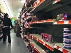 В магазинах Украины - драки за продукты