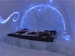 Первый в России ледяной отель построили в форме сердца