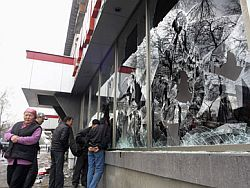 В Бишкеке возобновились беспорядки