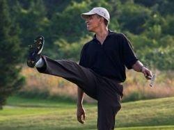 Обама во время похорон Качиньского играл в гольф