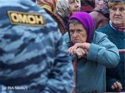 В Междуреченске ОМОН начал разгонять протестующих