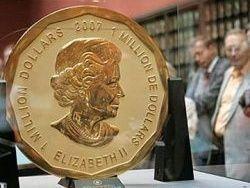 Золотую монету номиналом миллион долларов выставят на аукцион